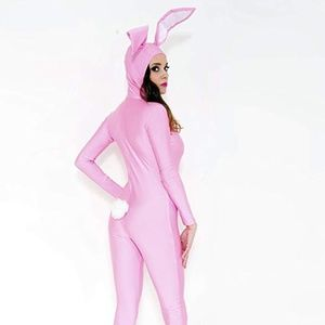 NWOT Playfully Baby Pink Bunny Onesie / Costume